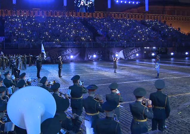 Clausura del festival internacional de orquestas militares Spasskaya Bashnia