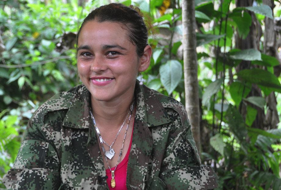 Cristina. Siete años en la guerrilla. Ha participado en varios combates con el Ejército