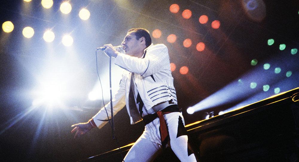 Freddie Mercury, líder de la banda Queen (archivo)