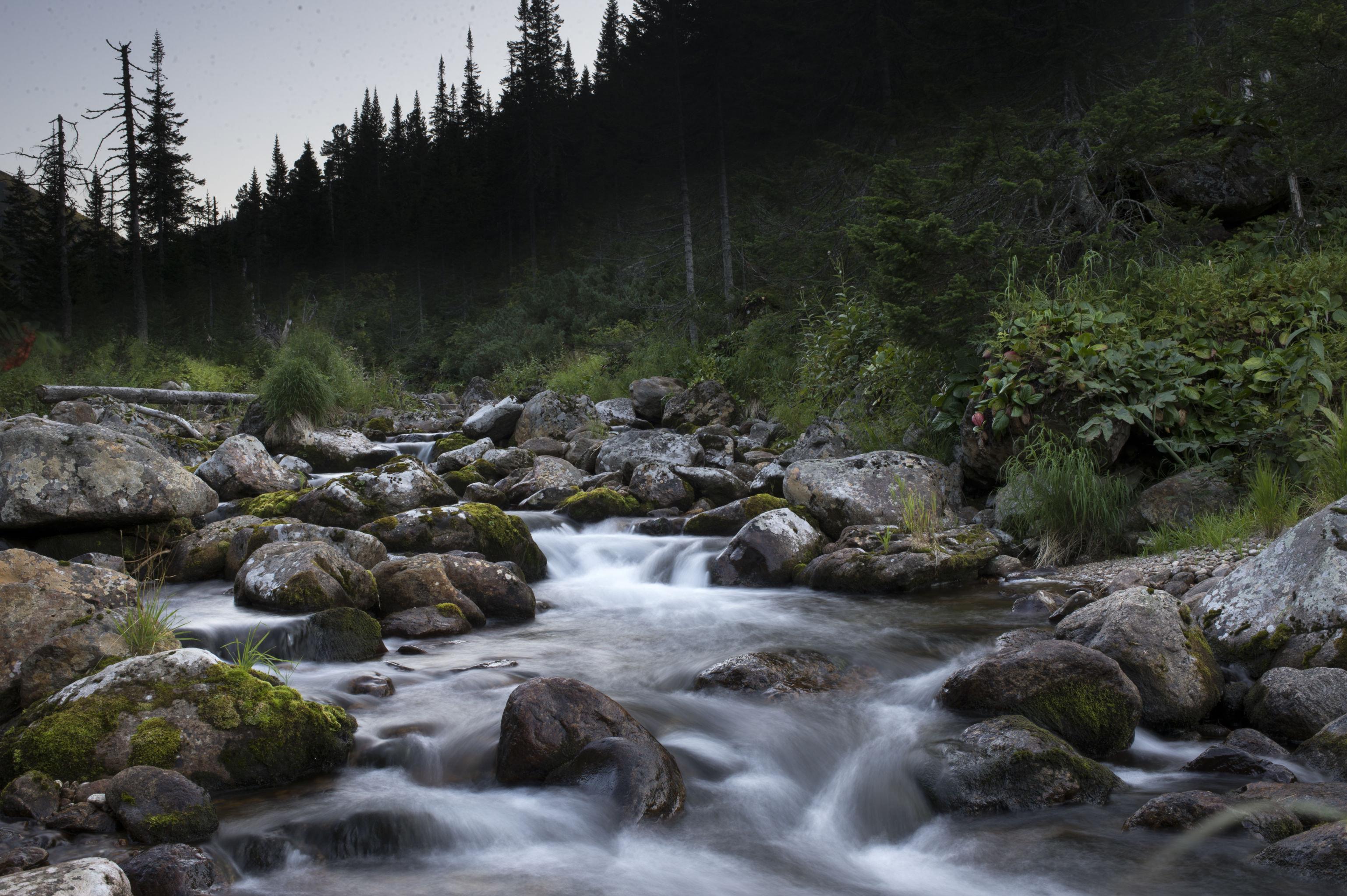 El río Osínovka en el parque nacional Baikal.