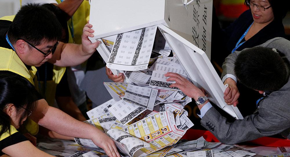 Las elecciones en Hong Kong