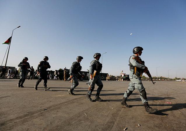 Policías de Afganistán