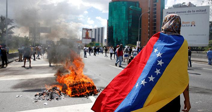 Protesta en Venezuela (archivo)