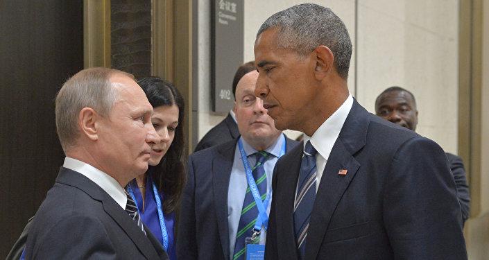 Barack Obama y Vladímir Putin