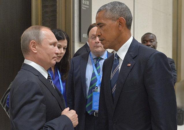 Putin y Obama en la cumbre del G-20 en Hangzhou (China)