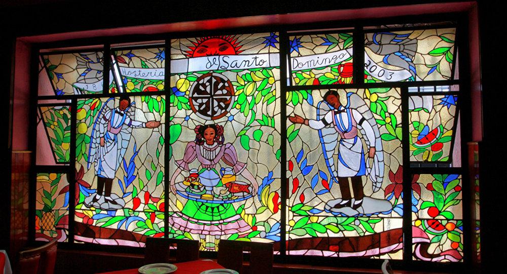 El vitral en la hostería Santo Domingo, Ciudad de México