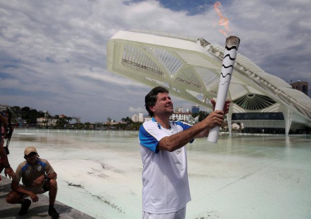 La llama paralímpica en Río de Janeiro