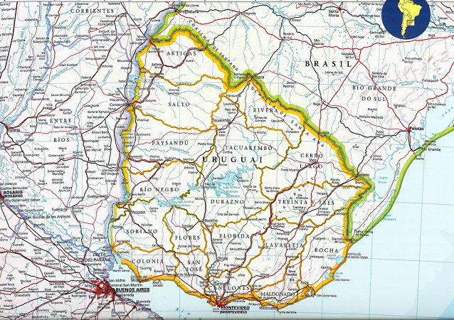 El mapa de Uruguay