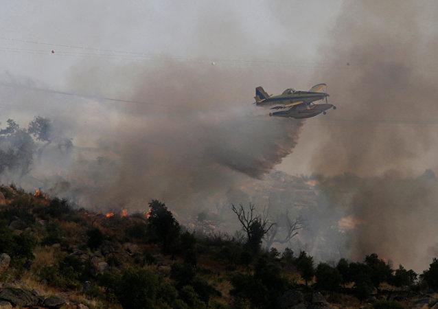 Los incendios forestrales en Portugal