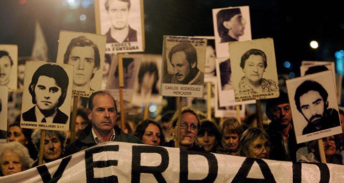 Marcha de Silencio en conmemoración de las víctimas de la dictadura de 1973-1985, Montevideo, Uruguay