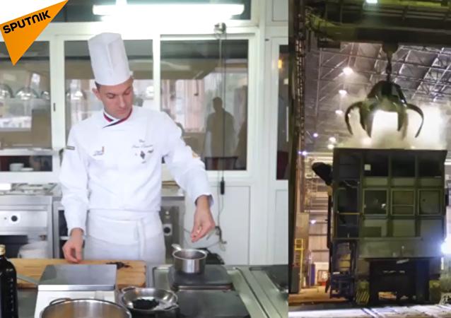 Sopa de acero: chef ruso prepara un plato al estilo metalúrgico
