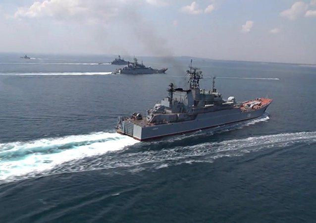 Los buques de guerra rusos (archivo)