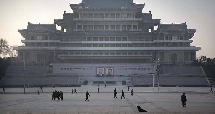 Plaza Kim Il Sung en Corea del Norte