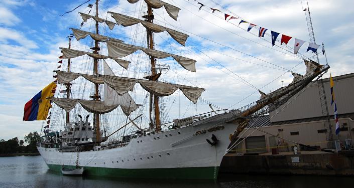 El buque escuela perteneciente a la Armada de Colombia