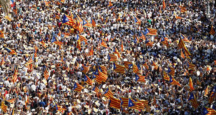 La celebración del Día de Cataluña en Barcelona