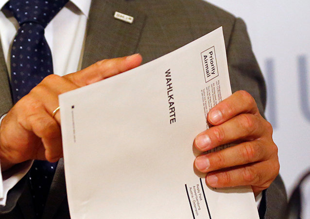 Una papeleta para las elecciones en Austria