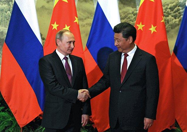 Los jefes de Estado de Rusia y China