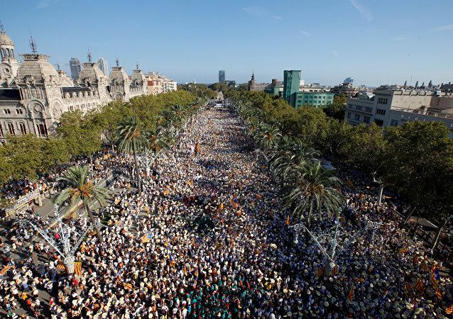 Las manifestaciones en Cataluña del 11 de septiembre de 2016