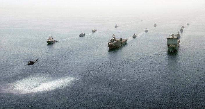 Navíos en el Golfo Pérsico (archivo)