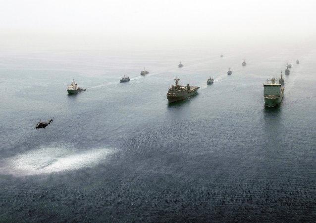 Los buques en el golfo Pérsico
