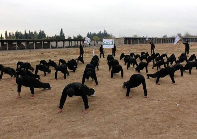 Combatientes de Ahrar al Sham (archivo)