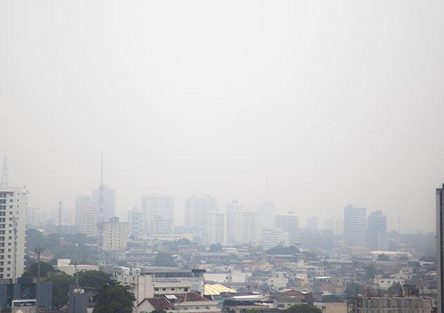Contaminación aérea en la ciudad brasileña de Manaos