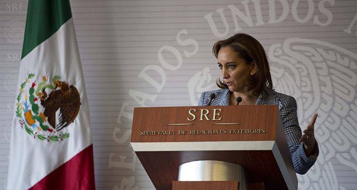 Claudia Ruiz Massieu, canciller de México