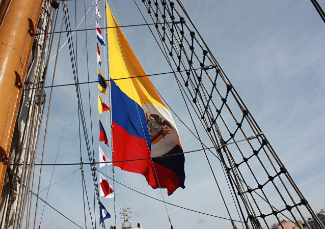 El buque colombiano Gloria en San Petersburgo