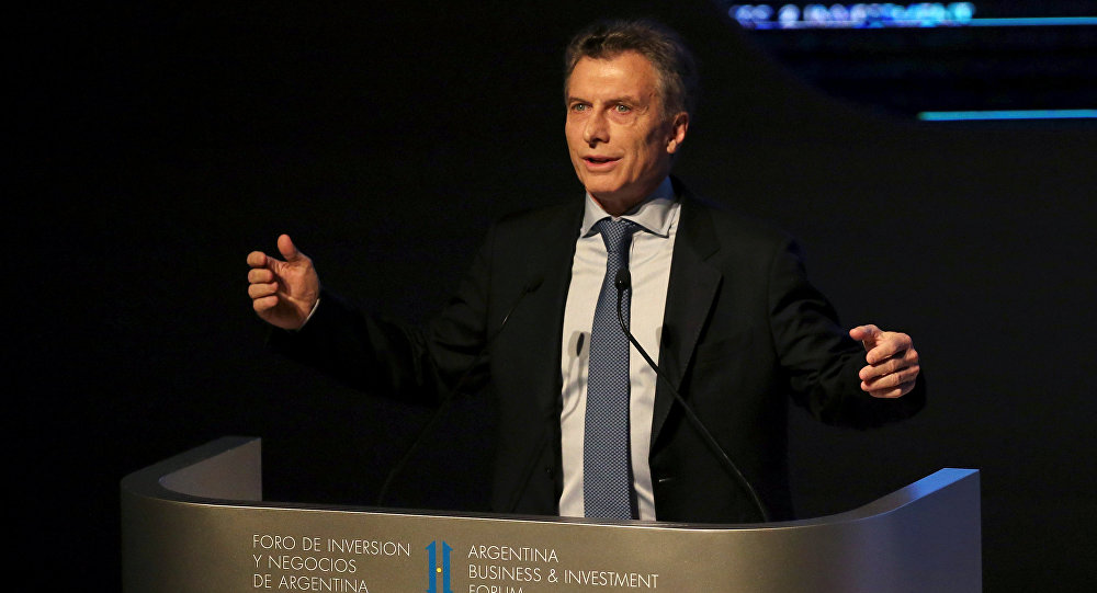 Mauricio Macri, el presidente de Argentina