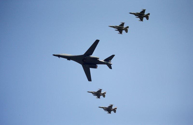 Bombardero B-1B de las Fuerzas Aéreas de EEUU en Corea del Sur