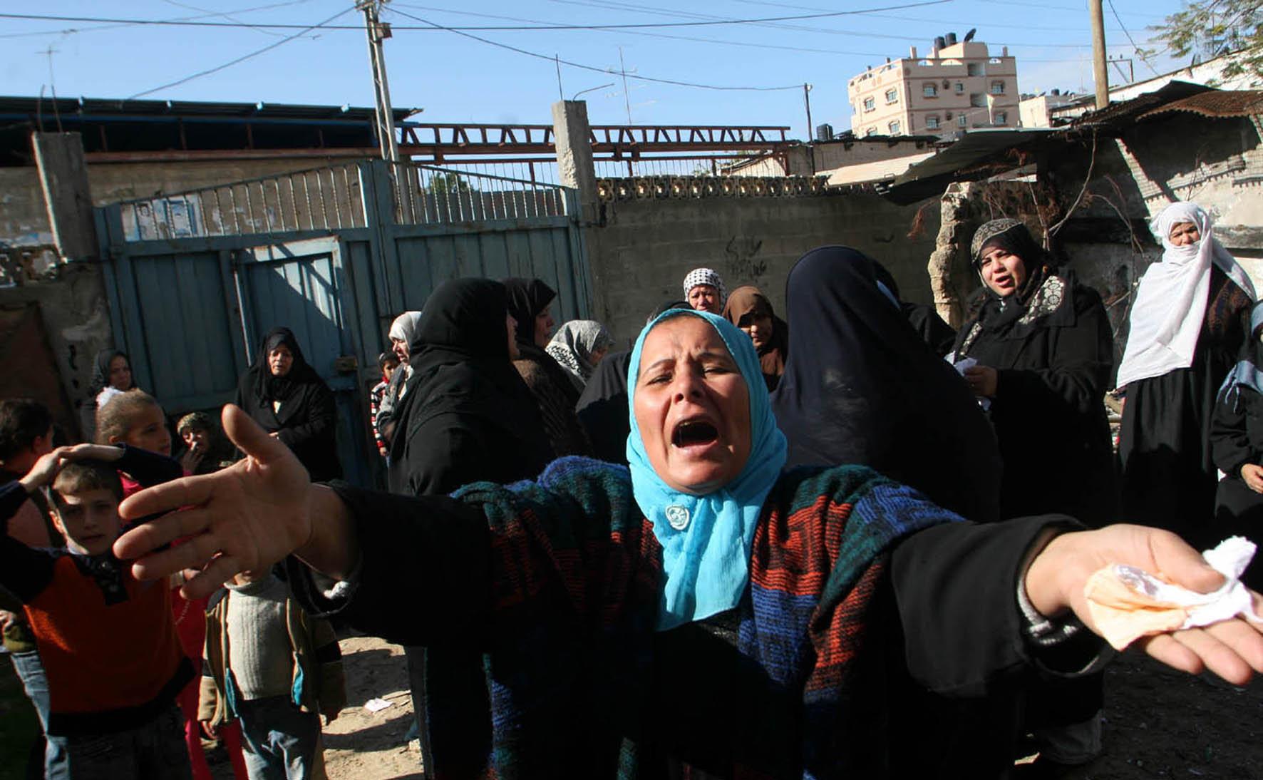 Mujeres palestinas en Gaza