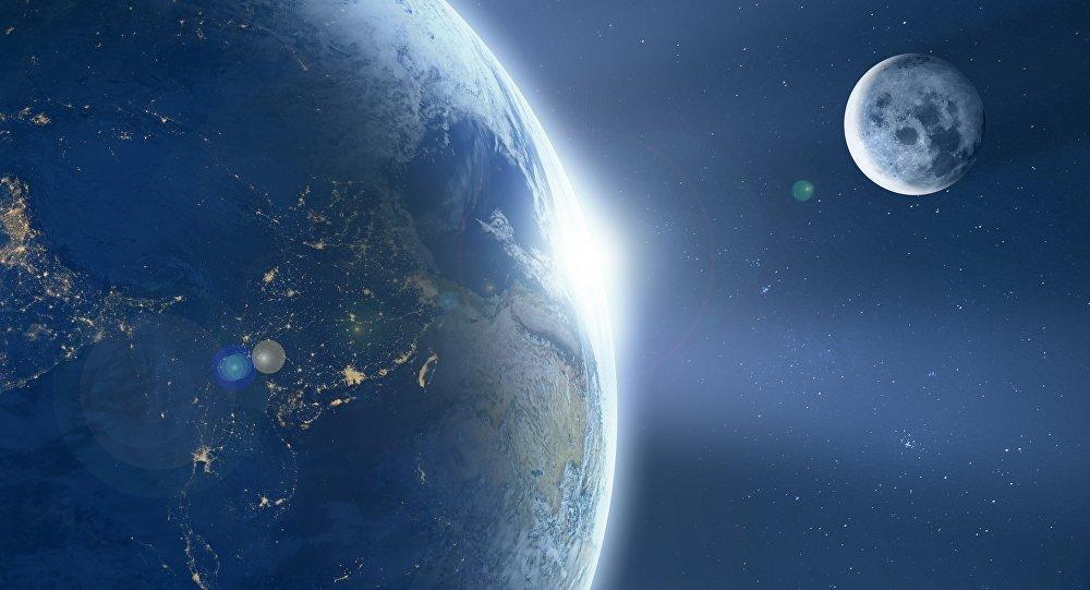 La Tierra y la Luna (ilustración)