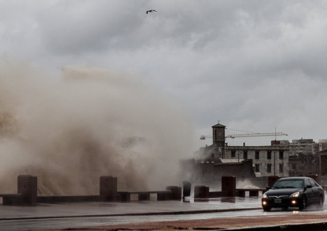 Temporal en Montevideo (archivo)