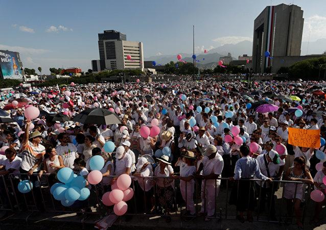 Marcha de los católicos y conservadores contra la legalización de los matrimonios homosexuales