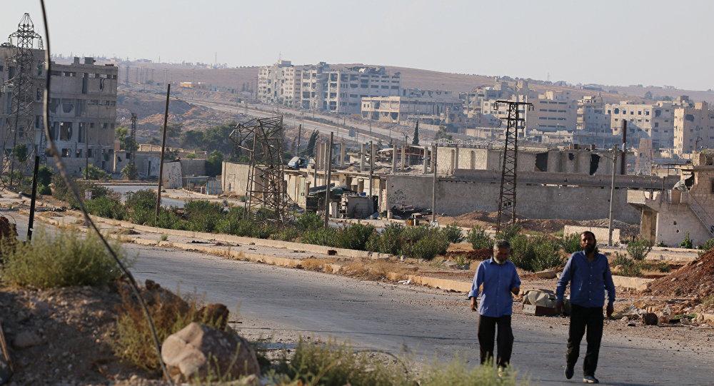 La carretera de Castello, Alepo, Siria