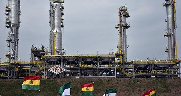 La planta de gas de Carlos Villegas, en Bolivia