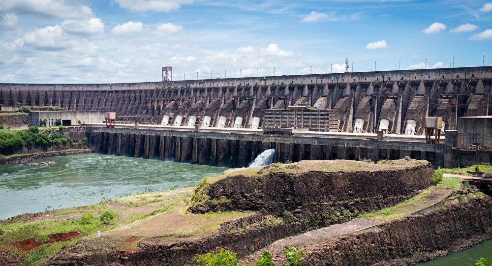 La represa hidroeléctrica de Itaipú