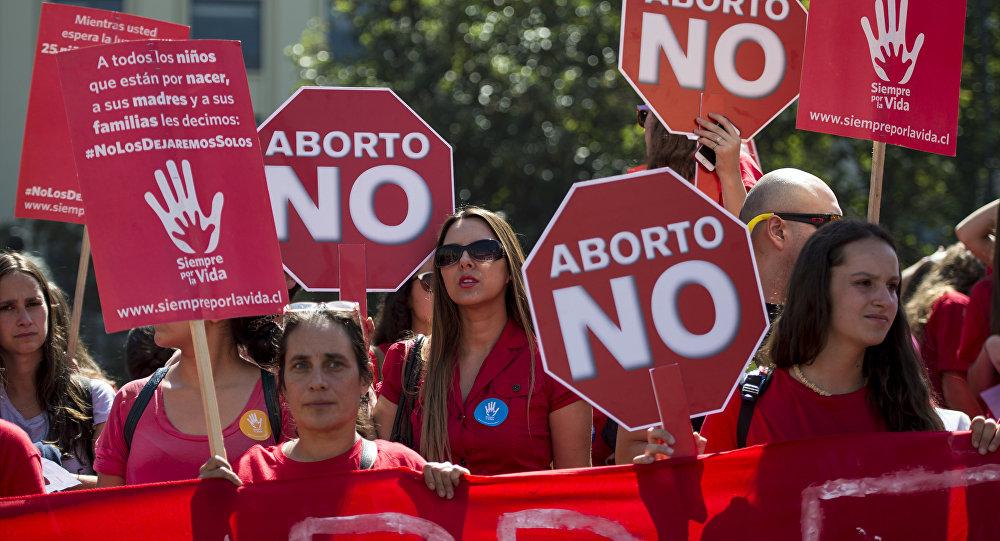 Una manidestación contra el aborto en Chile (archivo)