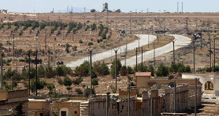 La carretera de Castello en Alepo, Siria