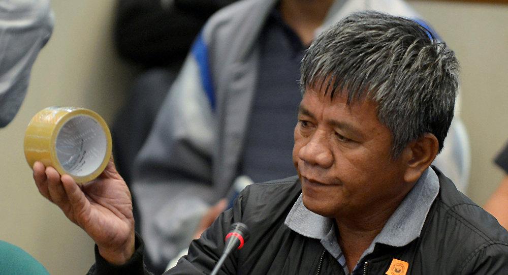 Edgar Matobato, antiguo miembro del supuesto 'escuadrón de la muerte de Duterte'