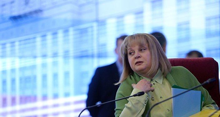 La presidenta de la Comisión Electoral Central rusa, Ela Pamfílova