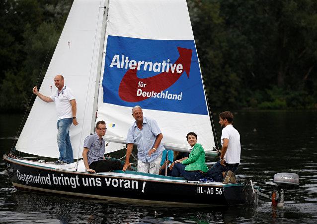 Los miembros del partido Alternativa por Alemania en Berlín
