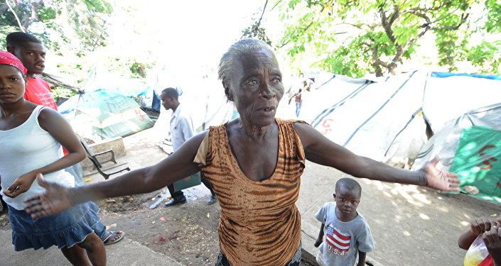 Refugiados haitianos (archivo)