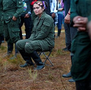 Combatiente de FARC (archivo)