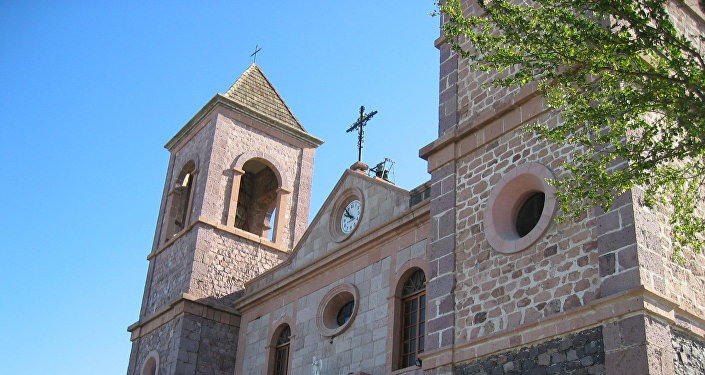 Una iglesia en México
