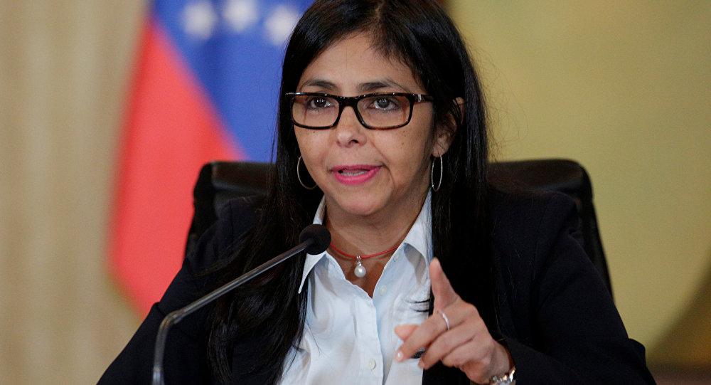 Delcy Rodríguez, ministra de Exteriores de Venezuela