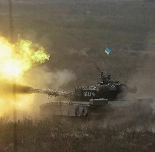 Un tanque ucraniano