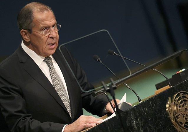 Serguéi Lavrov ante la Asamblea General de la ONU