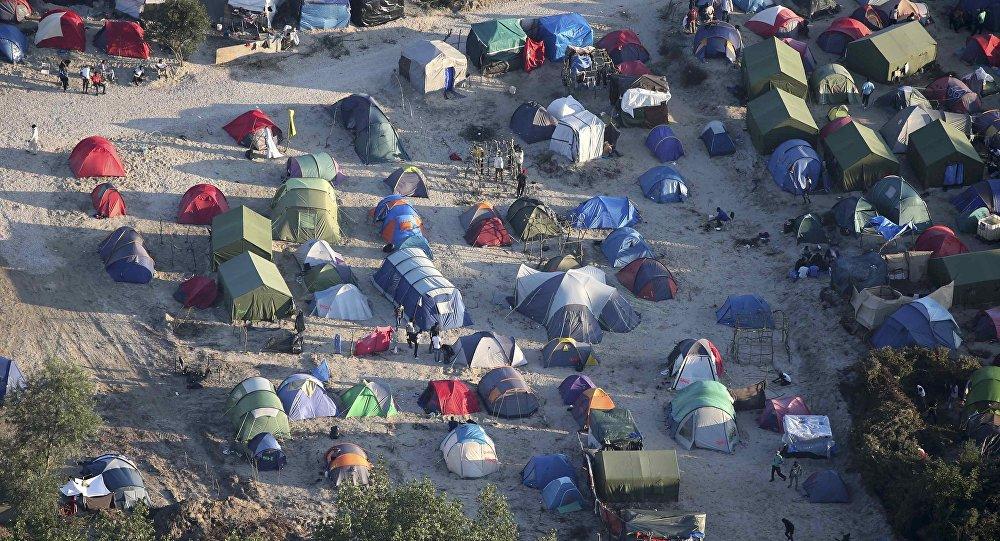 El campo de refugiados en Calais, Francia
