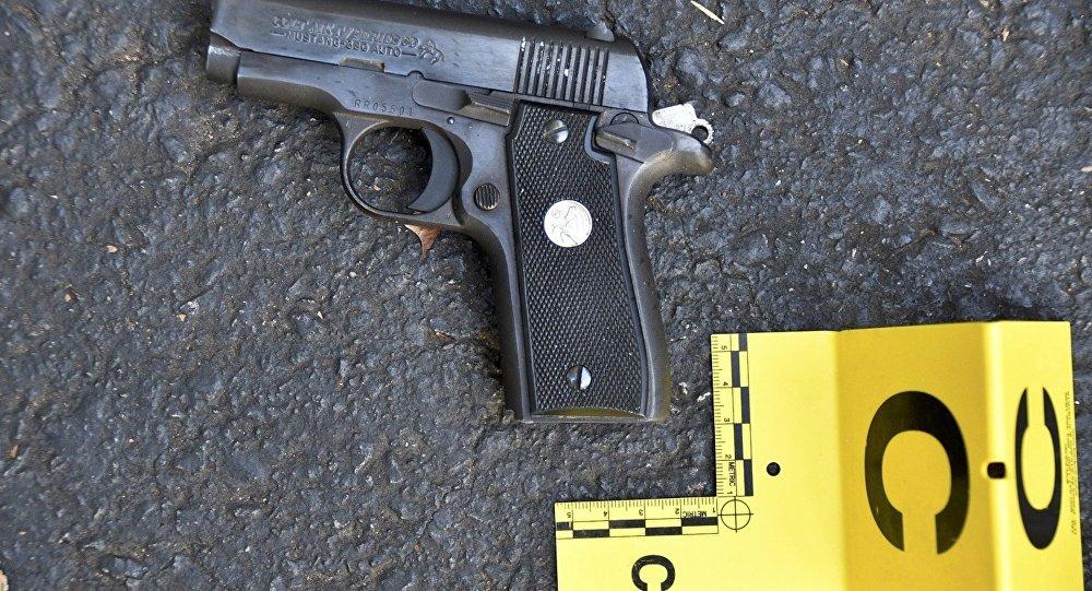 Una pistola utilizada en la matanza de Charlotte, en EEUU